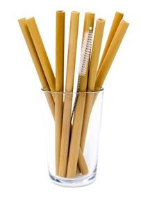 Bambu sustainable drinking straws made from bamboo