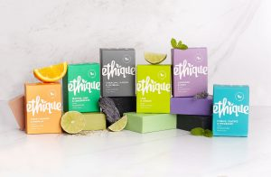 Ethique environmentally friendly beauty products with plastic free packaging