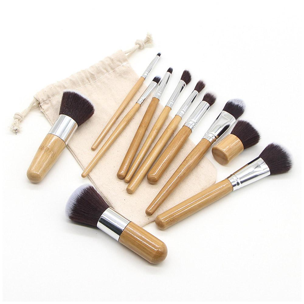 makeup brushes made from bamboo for more sustainable and affordable living