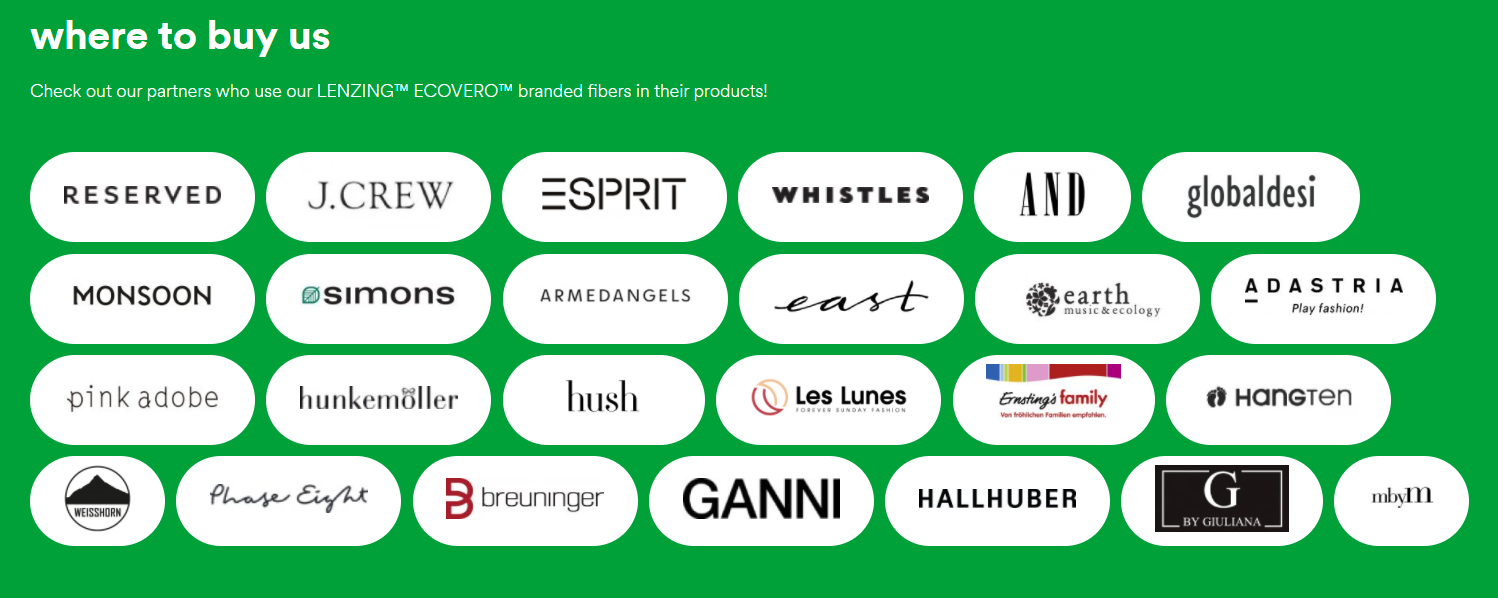 Partners for eco responsible viscose fashion products